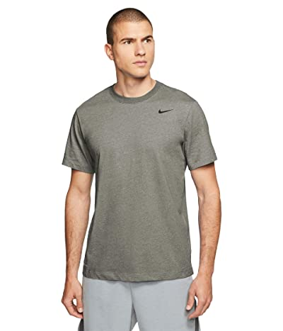 Nike Dry Tee Dri-FIT Cotton Crew Solid (Light Army/Black) Men