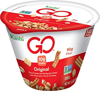 Kashi GO Original Breakfast Cereal - Non-GMO | Vegetarian | Single Serve Cups 1.6 Oz (Pack of 12)