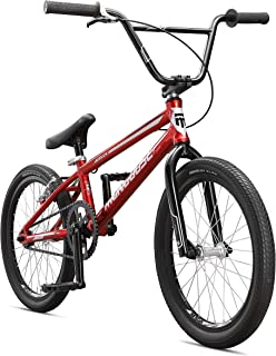 Mongoose Title Pro BMX Race Bike with 20-Inch Wheels in Red for Beginner to Intermediate Riders, Featuring Lightweight Tectonic T1 Aluminum Frame and Internal Cable Routing
