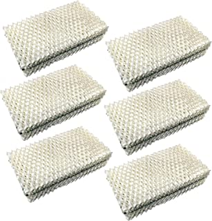 HQRP Wick Filter (6-Pack) for IDYLIS 828413B002 Replacement fits IHUM-10-140 / I HUM 10 140 4-Gallon Whole-House Humidifier Coaster