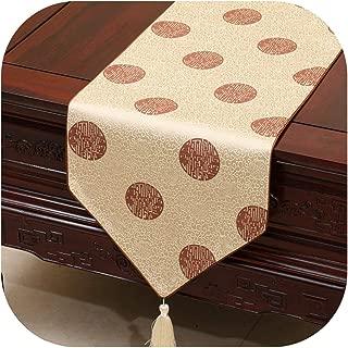 Wenzi-day Satin Table Flag Bed Flag Household Table Runner Table Cloth Festival Decoration Custom Size,33x150cm,01
