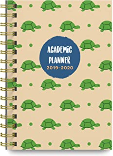 June 2019 - July 2020 Turtles Soft Cover Academic Year Day Planner Calendar Book by Bright Day, Weekly Monthly Dated Agenda Spiral Bound Organizer, 6.25 x 8.25 Inch,