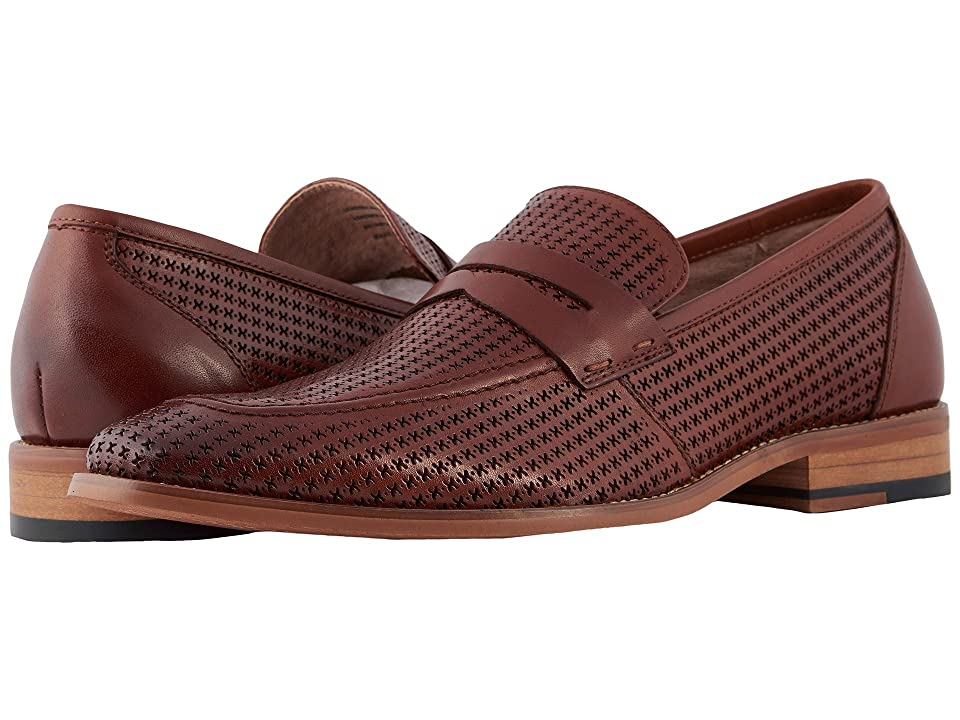 Stacy Adams Belfair Moc Toe Slip On Loafer (Cognac) Men