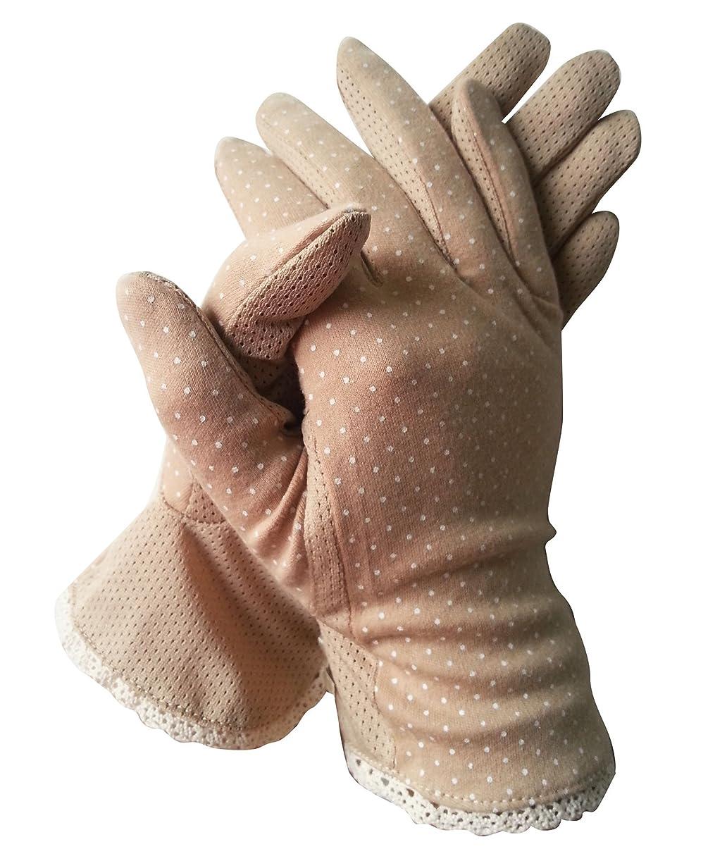 引退したパットスムーズに(ピーキー)Peigee紫外線をしっかりガード!!清涼メッシュ UVカット 日焼け止め手袋 UVカット 手袋 ショート グローブ 薄手 メッシュ 清涼 水玉 柄 滑止め付 女性 レディース