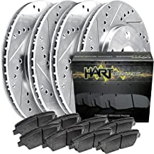 [FULL KIT] PLATINUM HART DRILLED SLOT BRAKE ROTORS AND CERAMIC PAD PHCC.6109002