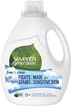 Seventh Generation Liquid Laundry Detergent, Free & Clear, 100 oz, 66 Loads (Packaging May Vary)