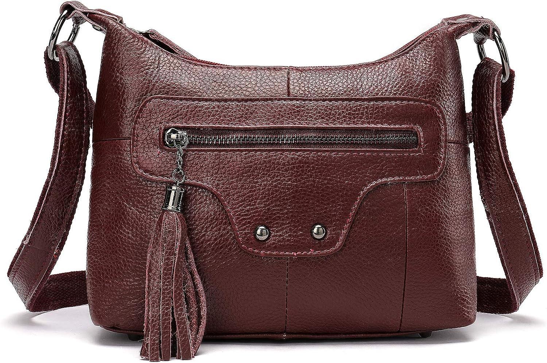 Fashion Genuine Leather Hobo Bag Ladies Crossbody Bag Cute Shoulder Bag for Women