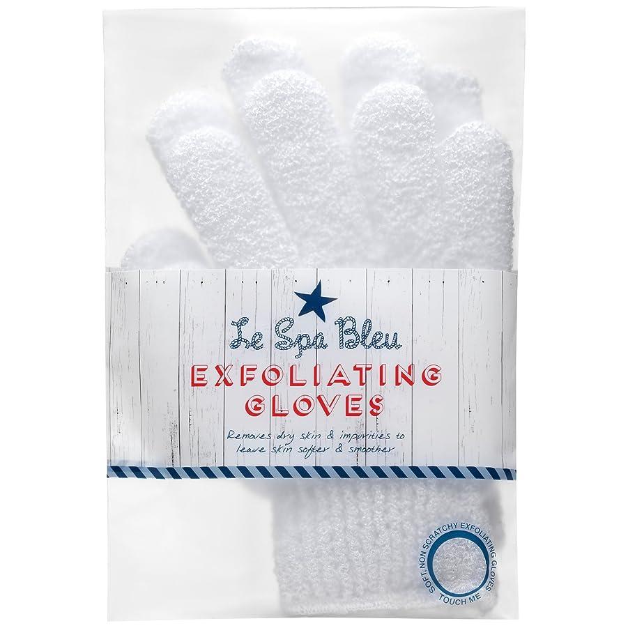 アクセント白いつかまえるルスパブルーホワイトピーリング手袋 (Le Spa Bleu) (x6) - Le Spa Bleu White Exfoliating Gloves (Pack of 6) [並行輸入品]