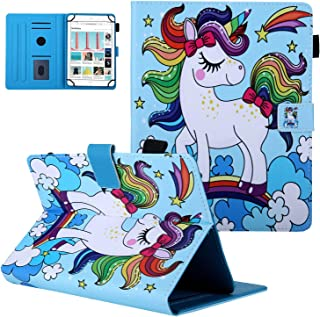 Universal Folio Case for 7 inch Tablet, UGOcase PU Leather Protect Case with Card Slots Flip Stand Cover for 6.5