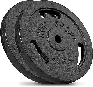 Hop-Sport–Pesas (5kg 10kg 20kg, 30kg Discos de Pesas 40kg, Hierro Fundido), Peso 30mm