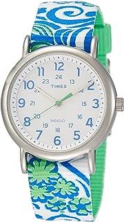 Timex Weekender White Dial Canvas Strap Ladies Watch TW2P90300