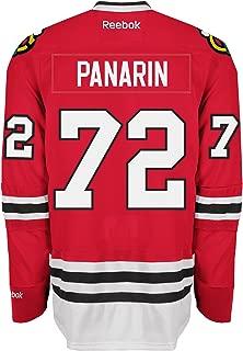 Reebok Chicago Blackhawks #72 Artemi Panarin Youth Premier Jersey Stitched NHL S/M Red