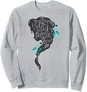 Disney Frozen Elsa Head Profile Love Thaws Sweatshirt