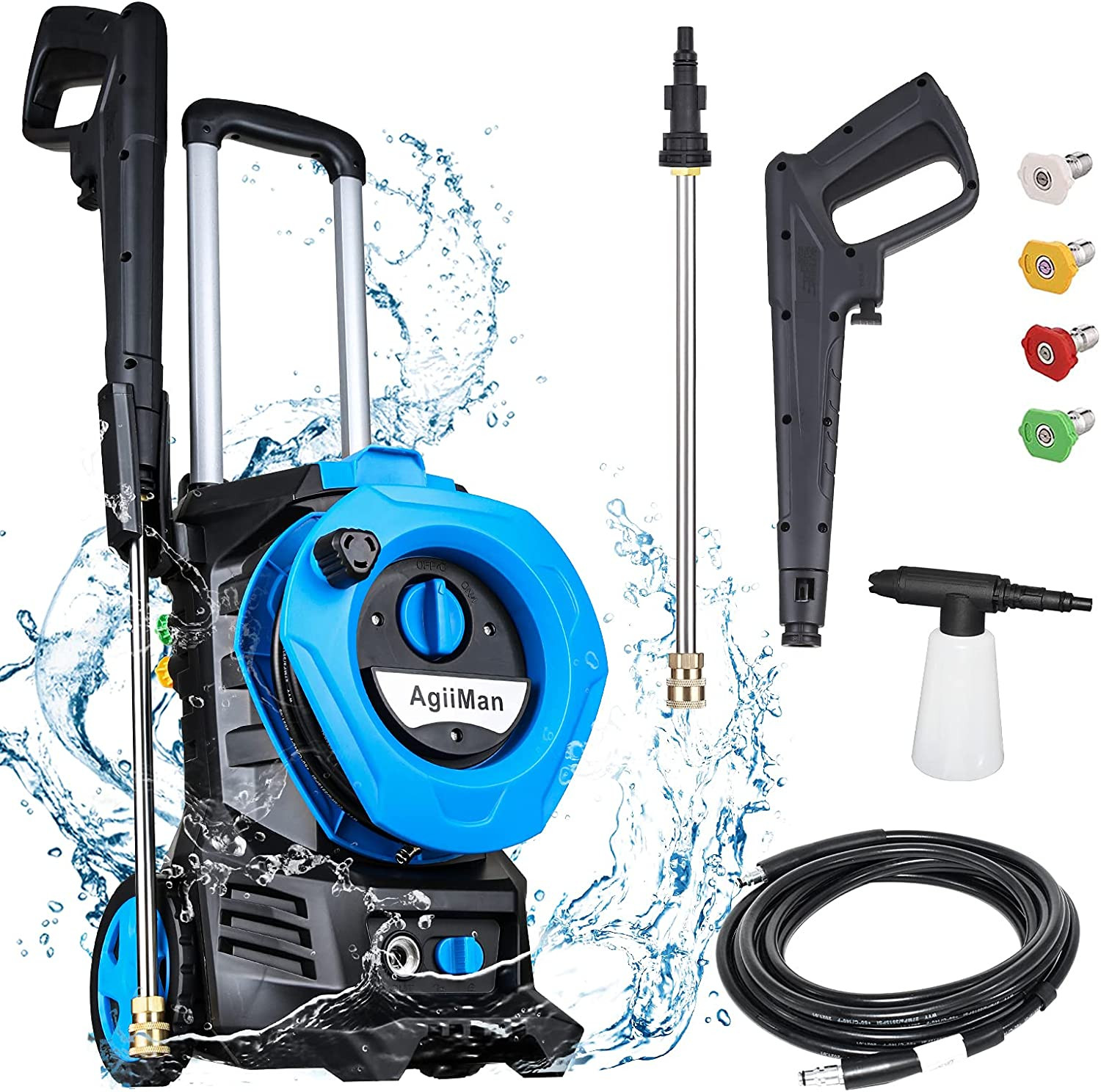 AgiiMan 3380PSI Electric Pressure Washer W High Very popular Power - Many popular brands