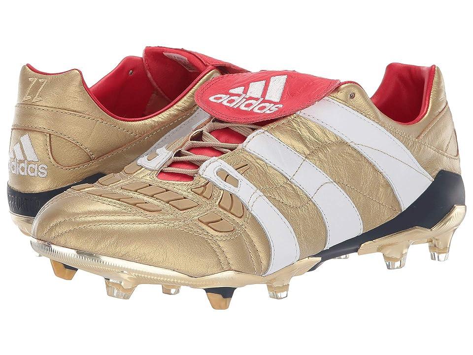 Image of adidas Special Collections Predator Accelerator Firm Ground Zinedine Zidane Cleat (Gold Metallic/Gold Metallic/Core Black) Men's Shoes