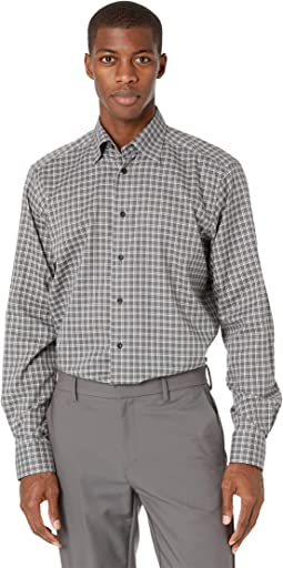 Contemporary Fit Checked Flannel Shirt