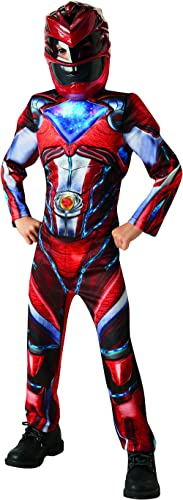 Red Ranger Deluxe Muscle Saban's Power Rangers Movie Superhero Boys Costume