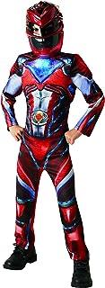 Power Rangers - Disfraz Ranger Rojo Deluxe para ninos, 3-4