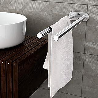 Toallero Doble Baño Acero Inoxidable Cepillado Toallero Barra Montado en la Pared Toalleros 40 cm Para Baño cocina