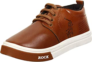 Super Kid's Synthetic Casual Brown Sneakers for Boys