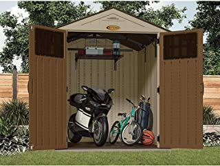 Suncast BMSA5L TRV230174 BMS Loft Shelf-Ceiling Storage and Shelving Shed-for Garde, Black