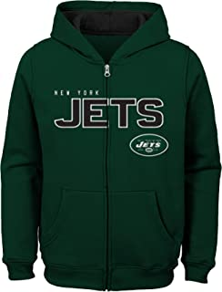 """Outerstuff boys Kids & Youth Boys """"stated"""" Full Zip Fleece Hoodie Nfl Kids & Youth Boys """"Stated"""" Full Zip Fleece Hoodie"""