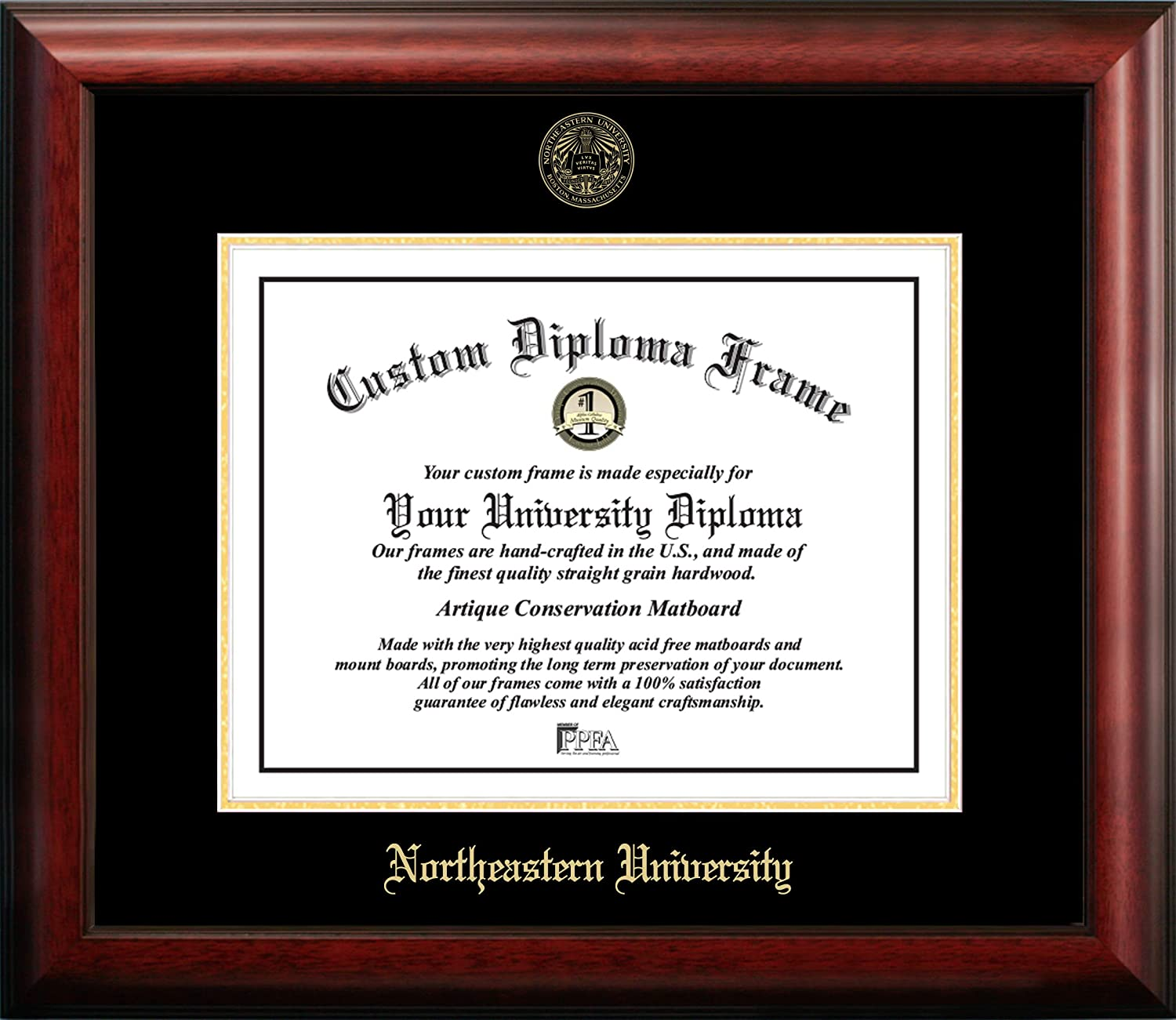 Max 66% OFF Campus famous Images NCAA unisex Gold Embossed Diploma Frame