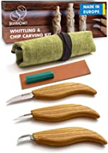 BeaverCraft S15 Whittling Wood Carving Kit – Wood Carving Tools Set – Chip..