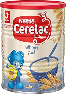 Cerelac Infant Cereals with iRON Plus Wheat from 6 Months, Tin, 400g - Pack of 1