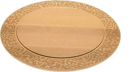 Preisvergleich für Alessi Dressed in Wood Käseplatte aus Buchenholz, Edelstahl, braun 30.5 x 43 x 16.5 cm