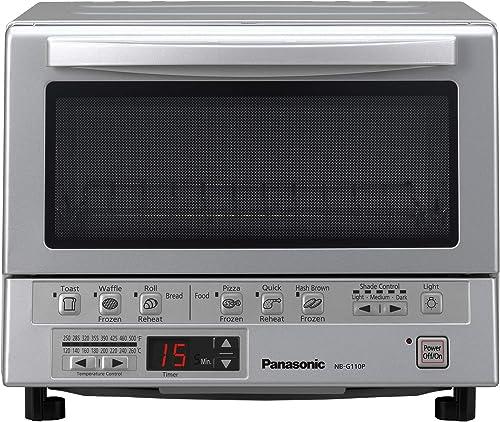 Panasonic FlashXpress horno tostador compacto con doble calefacción por infrarrojos, bandeja para migas y 1300 vatios...