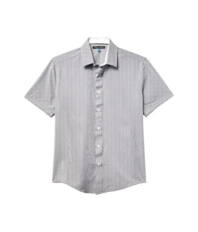 Vince Camuto Short Sleeve Sport Shirt (White/Black) Men