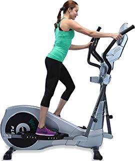 """GOELLIPTICAL V-600 Standard Stride 17"""" Programmable Elliptical Exercise Cross Trainer Machine for Cardio Fitness Strength Conditioning Workout at Home or Gym"""