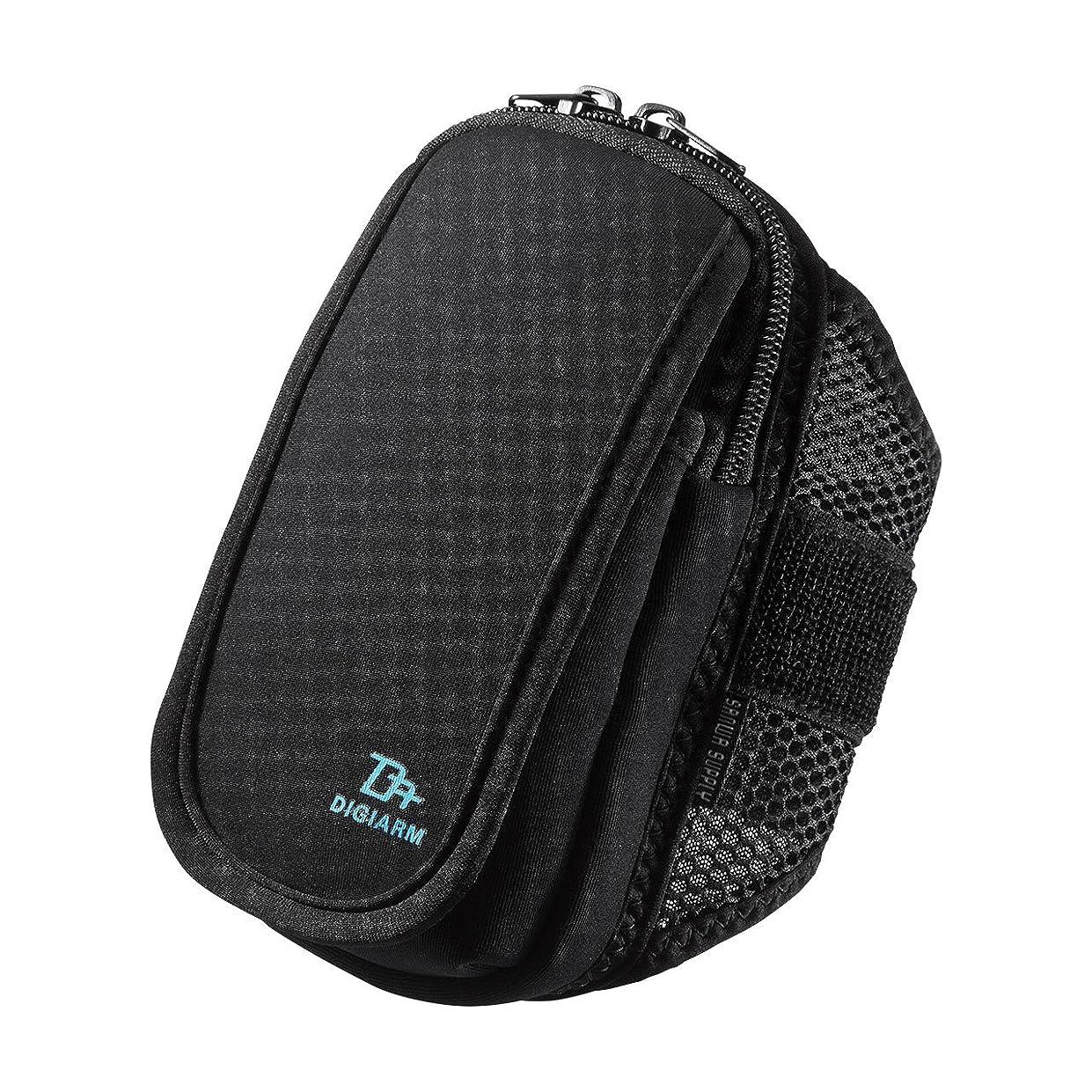 綺麗な単調な商標サンワサプライ アームバンドスポーツケース(Mサイズ?5.2インチ?ブラック)  PDA-ARM3BK
