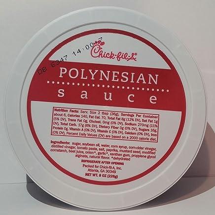 84543dfa Chick-Fil-A Polynesian Sauce 8 Ounce Tub (Pack of 2)