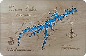Hyco Lake, North Carolina: Standout Wood Map Wall Hanging