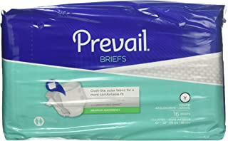 Prevail Maximum Absorbency Incontinence Briefs, Youth, 16 Count