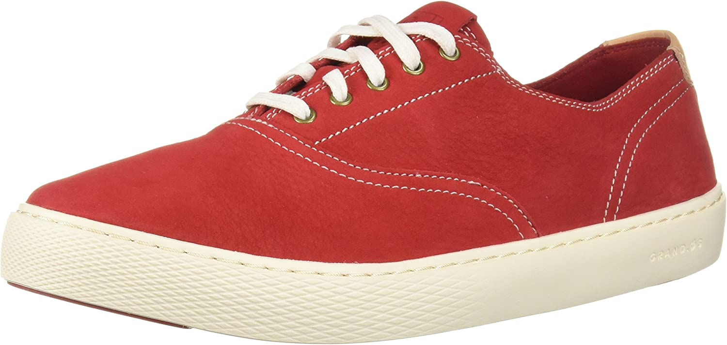 Cole Haan Men's Grandpro Deck LACE OX Boat shoes, Tango Red Nubuck, 10 UK