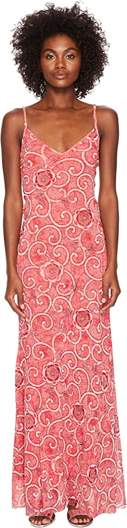 FUZZI - Slip Dress Scroll Batik Print