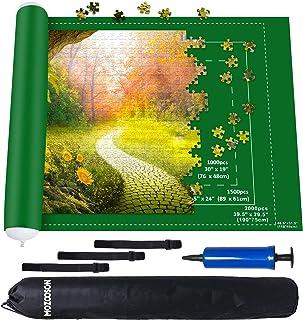 MOZOOSON Tapis Puzzle XXL 1000 1500 2000 Accessoires pour Puzzles, Tapis de Rangement pour Puzzle Adulte, Puzzle Roll up M...