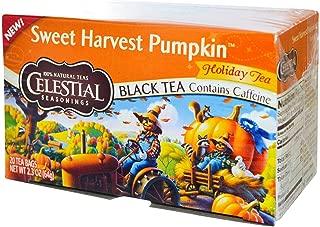 ArtMuseKitsMikash Celestial Seasonings: Sweet Harvest Pumpkin, Black Tea (Pack of 3)