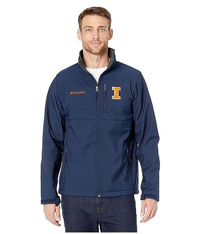 Columbia College Illinois Fighting Illini Collegiate Ascendertm Softshell Jacket (Collegiate Navy) Men