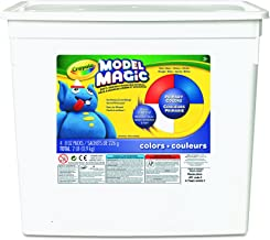 Crayola Model Magic, Primary Colors (Red/Yellow/Blue/White) 8 Ounce Packs (4 Count Bucket) No-Mess, Soft, Lightweight Modeling Material For Kids 4 & Up, Easy to Paint and Decorate, Air Dries Smooth