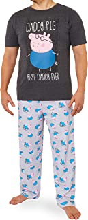 Peppa Pig Mens Pyjamas Set, Mens Pjs with Daddy Pig, Daddy Gifts