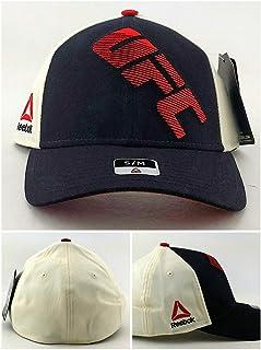 842f6d6290a Reebok UFC RBK MMA Black Red White Cream Fight Night Flex Fit Era Fitted Hat  Cap