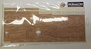 Premium Wood Deck for 1/350 USS Missouri 1944 in Teak (fits Tamiya Kit)