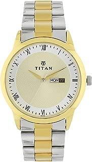 Titan Workwear Men's Designer Dress Watch   Quartz, Water Resistant, Stainless Steel or Leather Band
