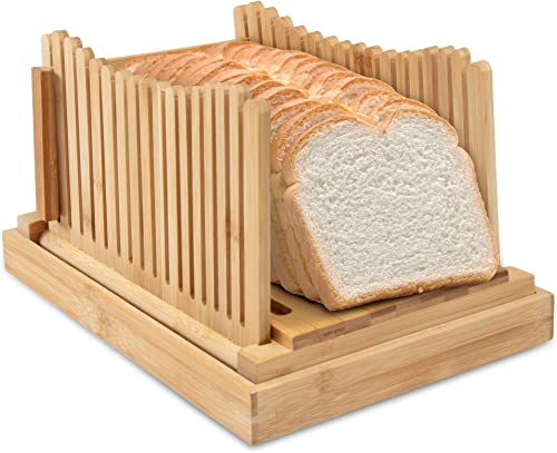 new arrival Ivation Folding Bread Slicer | Collapsible, Easy to Use Cutting Guide w/ Detachable Crumb Catcher & Serving Tray | online Accurately Slice discount Bakery-Fresh & Homemade Bread with Ease outlet online sale