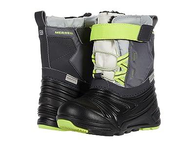 Merrell Kids Snow Quest Lite 2.0 Jr Waterproof (Toddler) (Grey/Citron) Boys Shoes