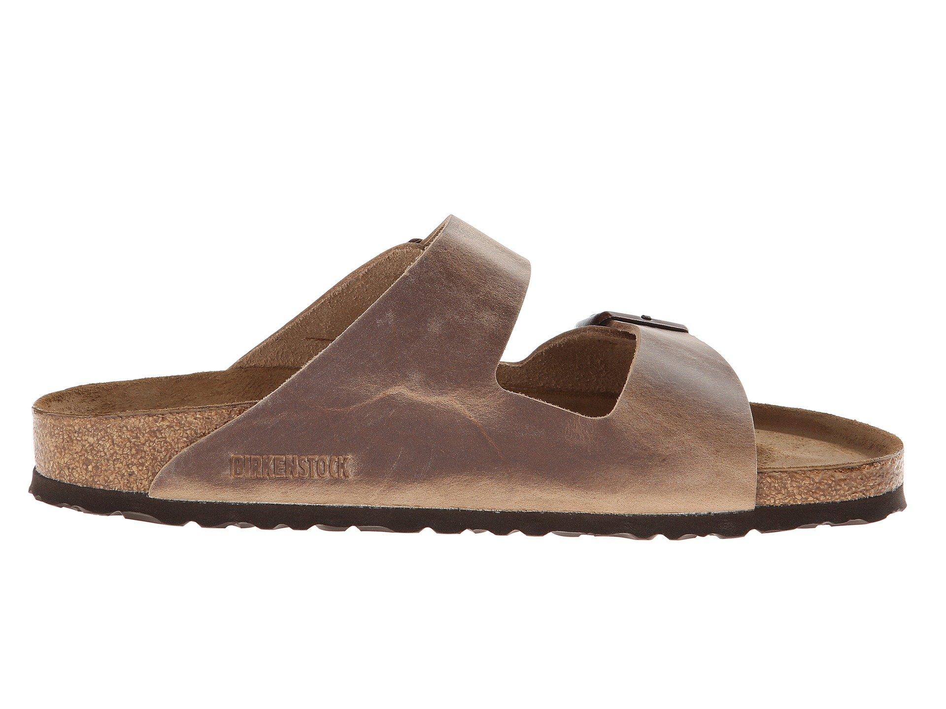 Birkenstock Arizona Soft Footbed - Leather (Unisex) at Zappos.com
